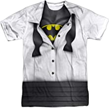 DC Comics Adult Superhero Costume T Shirt I'm Superman, Batman, The Flash & Wonder Woman w/Stickers
