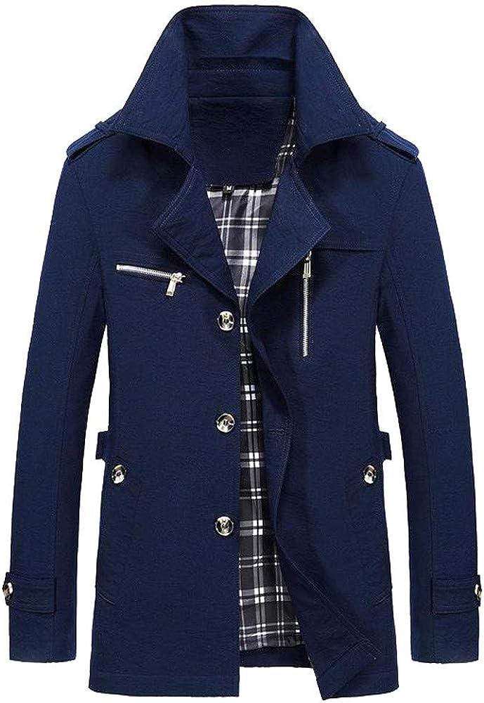 Mens Business Jacket 2021 Fashion Autumn Men Long Cotton Windbreaker Jackets Overcoat Male Casual WinterOutwear Coat