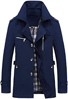 Clearance Forthery Men's Casual Button Military Jacket Thin Lightweight Coat Outwear