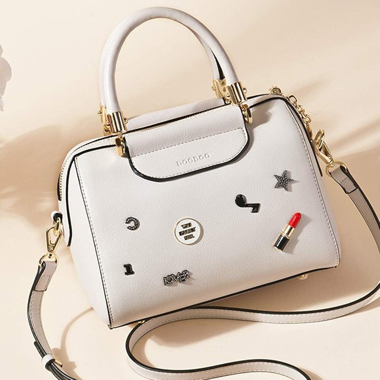 Klerokoh Klerokoh Klerokoh Mode vielseitige Schulter Crossbody Tasche für Frauen (Farbe   Weiß) B07QJWL7QC  Kompletter Spezifikationsbereich 5a4f1f