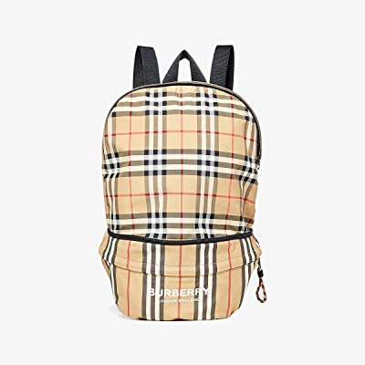 Burberry Kids Rex Archive Stripe Backpack (Archive Beige) Backpack Bags