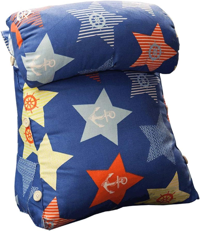 ZH Throw Pillows Triangle Cushion, Headrest Waist Bed Cushion Sofa Bay Window Back Waist Office Waist Pad Pillow 45  22  50cm