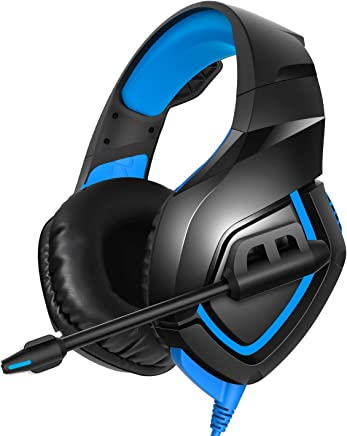 $23 Get RUNMUS Gaming Headset PS4 Headset with 7.1 Surround Sound Stereo, Xbox One Headset with Noise Canceling Mic, Compatible with PC, PS4, Xbox One Controller(Adapter Needed), NS