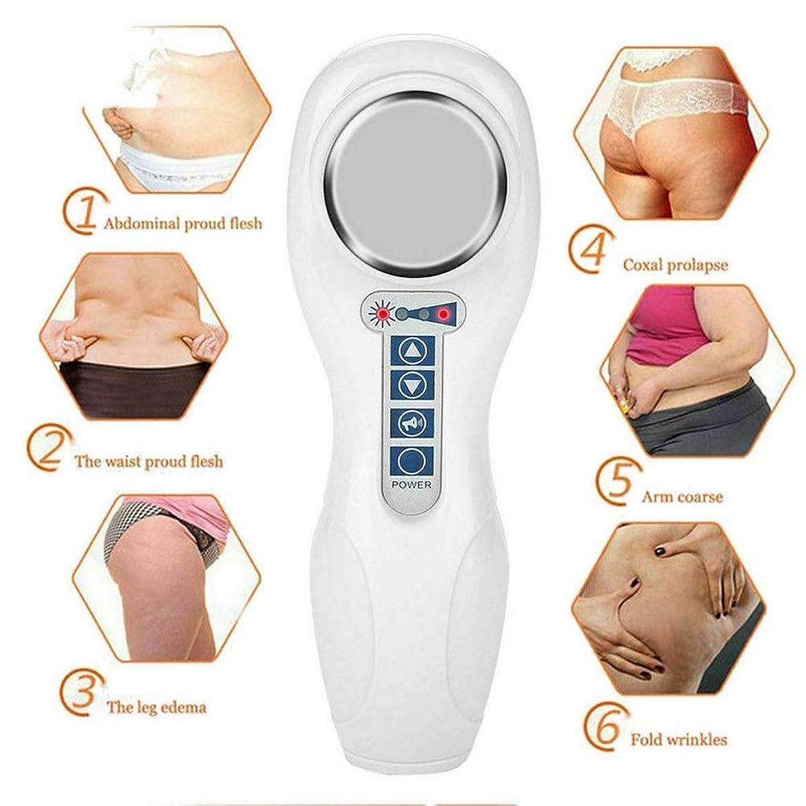 下る説明震え減量マッサージ機 - 振動美容デバイス多機能脂肪除去ツールボディシェーピングフェイシャルスキンケア