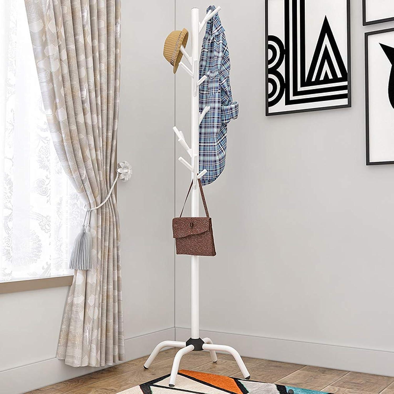 CXQ Modern Minimalist Floor-Standing Coat Rack Home Living Room Bedroom Creative White Clothes Rack