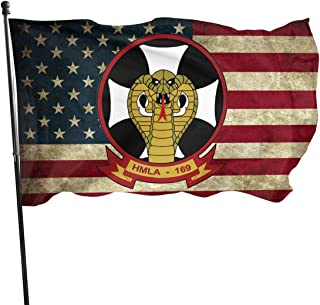 1st Marine Division Marine Light Attack Helicopter Squadron 169 Sticker American Flag 3x5 FT