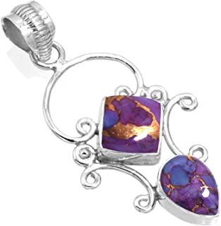 Jeweloporium Solid 925 Sterling Silver Gemstone Handmade Pendant for Women