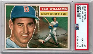 ted williams 1956 topps baseball card