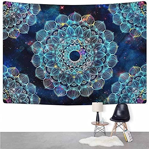 PPOU Sol y Luna Calavera Negra Colgante de Pared decoración del Dormitorio del hogar brujería Hippie Tapiz psicodélico Alfombra Manta Fina A12 130x150cm