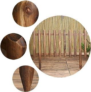 ZHANWEI Garden Fence Picket Fencing, Outdoor Wooden Decor Fences, for Flower Bed Landscape Border, 2 Sizes (Color : 3pcs, ...