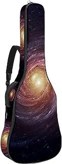 Multifickor akustisk gitarrväska tjock stoppning vattentät gitarrväska spelväska 109 x 43 x 12 cm, roterande kosmos