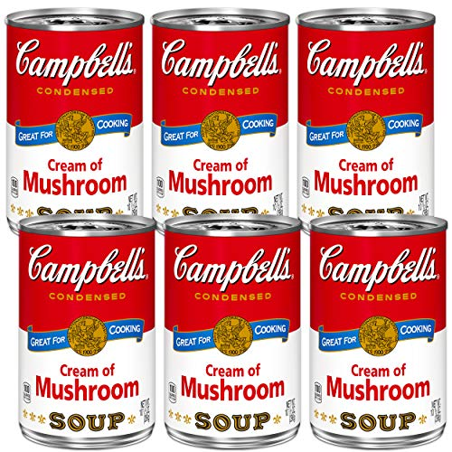 Campbell's Cream of Mushroom Soup 10.5 ounce Cans (Pack of 6)