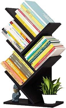 Tree Bookshelf Small Bookcases 5-Tier Book Shelves Floor Standing Tree Books Rack in Living Room Home Office, Corner Bookshel