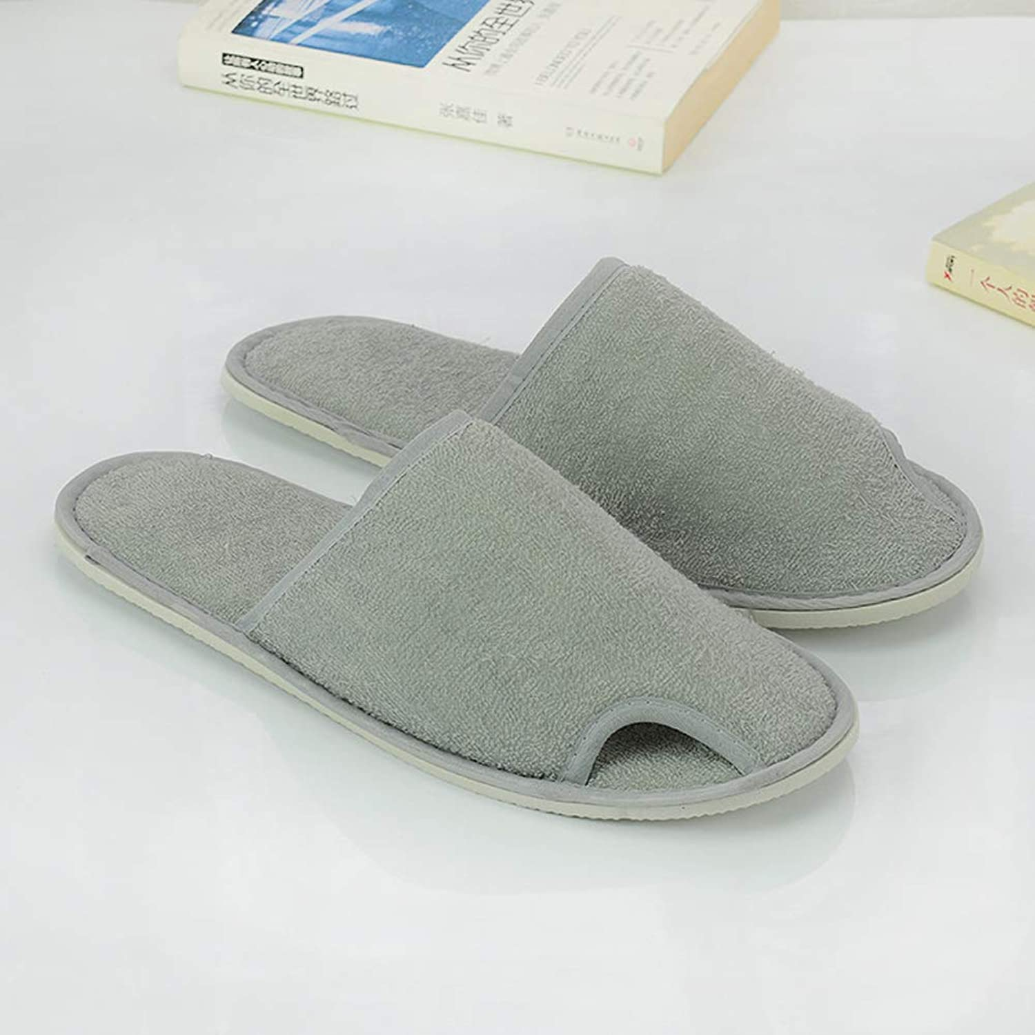 Hotel Slippers Disposable Unisex Home Spa Towel Slippers,B,20Pair