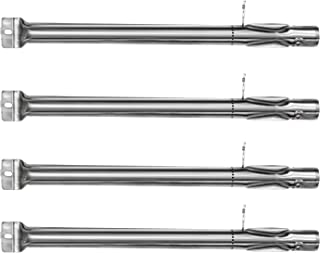 Hongso SBF231 (4-Pack) Universal BBQ Gas Grill Replacement Stainless Steel Pipe Tube Burner for BBQ Pro, Kenmore Sears, K Mart Part, Members Mark Part, Outdoor Gourmet, Lowes Model Grills (15 3/8
