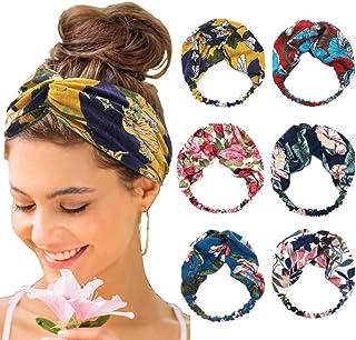 Bohend Boho Moda Fascia per capelli Ampio annodato Fiore Copricapo Elastico Sport Yoga Accessori per capelli per Donne e R...