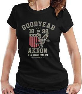 Goodyear Akron Fly with Eagles t-shirt för kvinnor