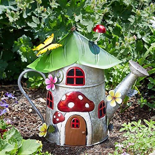 Garden Mile® Gartendekoration, wasserdicht, Feenhaus, Outdoor-Dekoration, witziges Metall, handbemalt, wetterfest