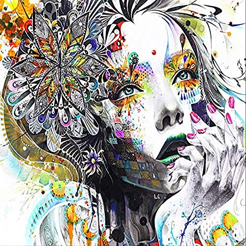 XHXI Kreative Persönlichkeit Mandala Blume Schöne Frau Große Größe Kunstdruck Tapete Poster Für Mall Bekleidungsges Wanddekoration fototapete 3d Tapete effekt Vlies wandbild Schlafzimmer-250cm×170cm
