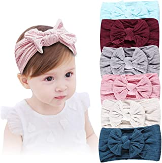Baby Girl Nylon Headbands, Girl's Hairbands and Bows for Newborn,Toddler,Childrens Hair Accessories