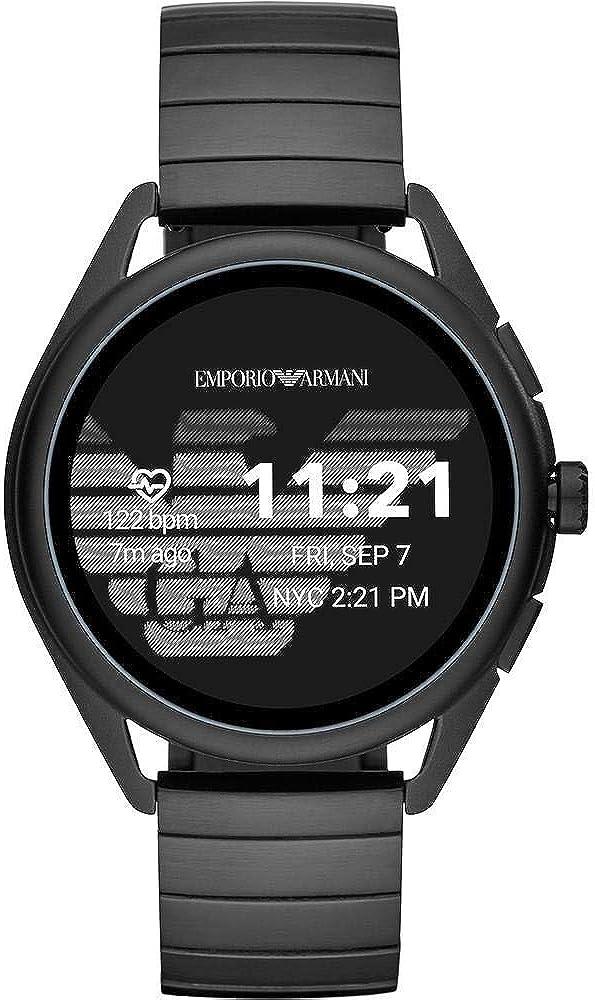 Emporio armani, orologio smartwatch, touchscreen da uomo, cassa in alluminio e cinturin in acciao inossidabile ART5020