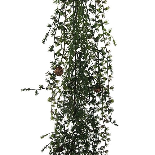 Künstliche LÄRCHENGIRLANDE ca 190 cm mit Natur- Zapfen.