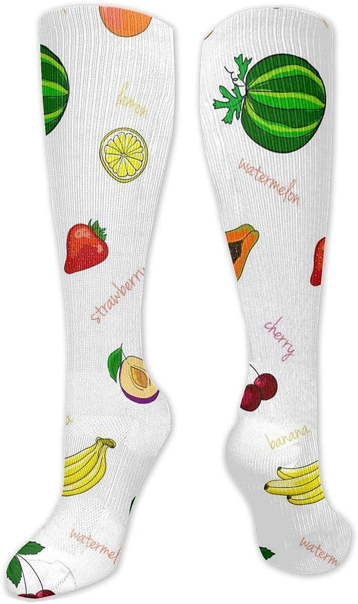 Fresh-Fruits Knee High Socks Leg Warmer Dresses Long Boot Stockings For Womens Cosplay Daily Wear