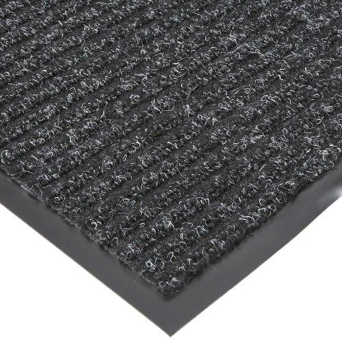 NoTrax T39 Bristol Ridge Scraper Carpet Mat, for Wet and Dry Areas, 4' Width x 20' Length x 3/8' Thickness, Midnight