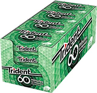 Trident Chicle Sin Azucar Hierbabuena 60 Minutes 20 gr. - [Pack de 16]