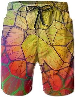 Beach Pants Geometry Lines 3D Circle Men's Workout Gym Short Shorts Pockets Sweatpants Waist Tension Design