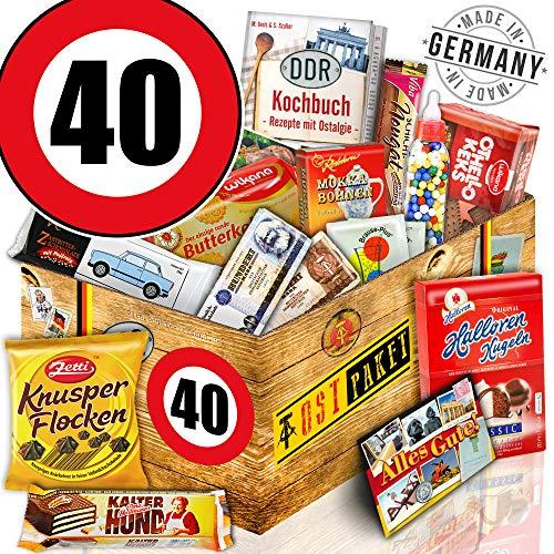 Geschenk Box L - Zahl 40 - Geschenke Vater - Süssigkeiten Box