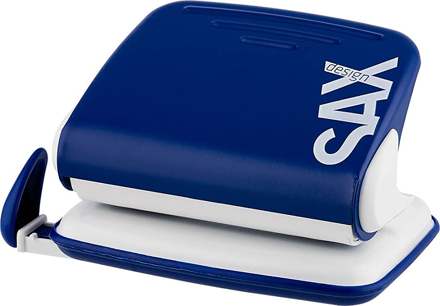 Sax Century Line 318-04 Hole Punch 15 Pages Blue