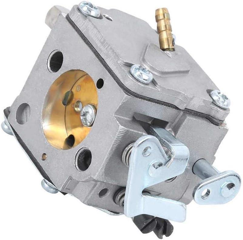 Premontado El Agujero consideró Motosierra carburador de fundición Inyectada de Aluminio anodizado Partes Superficiales Logrado (Color : Silver)