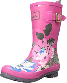 joules pink wellies