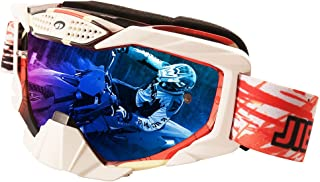 JIEPOLLY Motocross Goggles Motorcycle ATV Dirt Pit Bike Off Road Racing MX Goggles Windproof with Tear Off Staple for Women Men