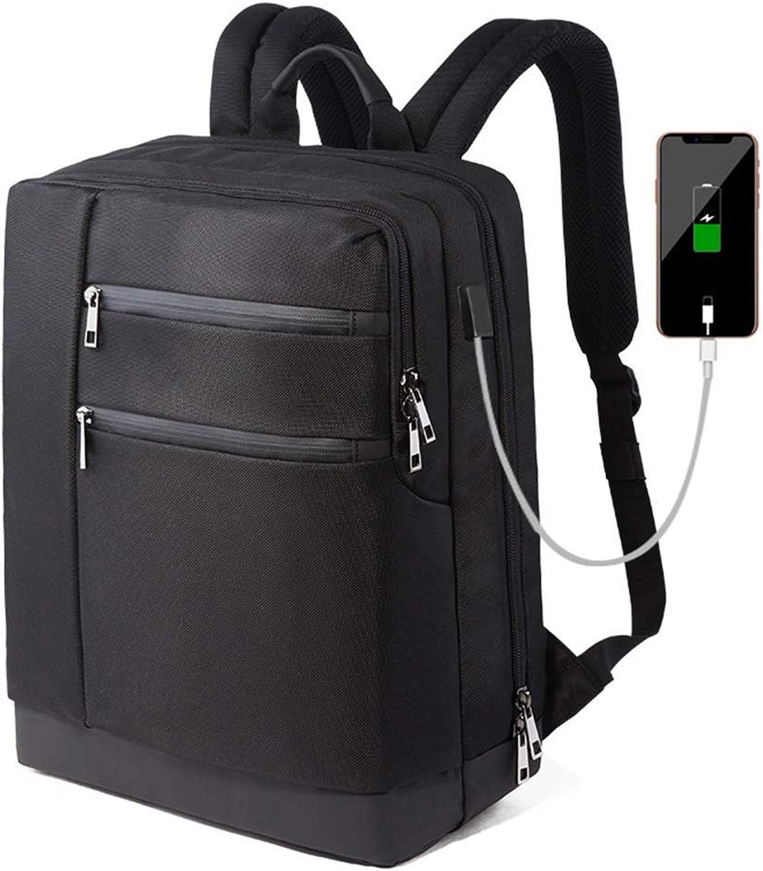 KSCD Laptop Rucksack, Smart Business Rucksack Wasserdicht Atmungsaktiv Tragbar USB Ladeanschluss Mode Sport Casual Rucksack (Schwarz)