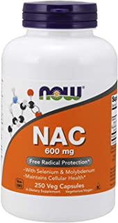NOW Supplements, NAC  (N-Acetyl Cysteine)600 mg with Selenium & Molybdenum, 250 Veg Capsules