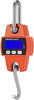 ZCY Nueva Báscula de Cocina Digital, Báscula de Grúa Electrónica, 300Kg / 600Lb Báscula de Gancho Mini Portátil Pantalla LCD Digital Báscula de Peso Colgante de Grúa Industrial, Rojo