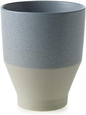 The Bridge Collection Light Blue Speckled Ceramic Planter Vase