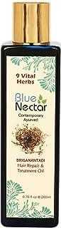 Blue Nectar Ayurvedic Bhringraj Hair Repair Oil for Dry Frizzy Hair (6.76 oz)