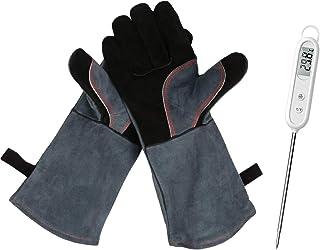 Rękawice do grilla, piekarnika, 1 para, 41 x 15 x 1,5 cm, odporne na wysokie temperatury, rękawice kominkowe do barbecue, ...