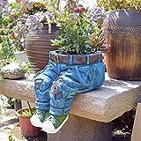 THDFV Jeans Statue Suculent Flowerpot, Pantalones Planter, Sculpture Art Plant Flowot Pote Interior ...