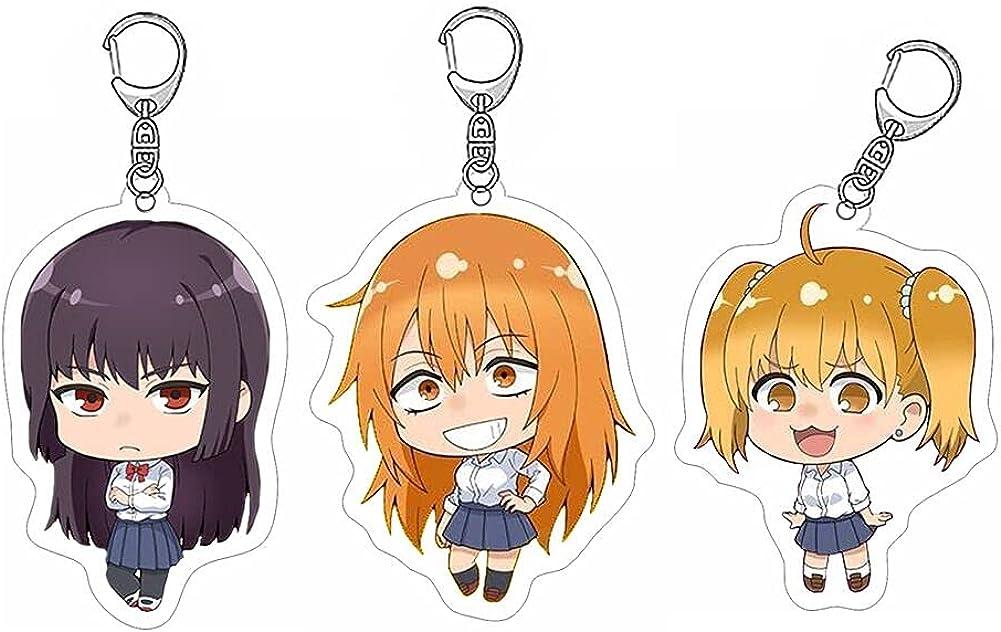 ZSTO Don't Toy With Me Keychain,Anime Ijiranaide Nagatoro San Maki Gamou Keyring Ornament Accessories