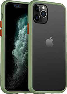 Beetle Style for iPhone 11 Pro Case 5.8 Inch,Matte Translucent Anti-Scratch Hard PC Back with Microfiber Lining,Dropproof Shockproof Dirtproof Waterpproof Protective Case Cover for iPhone 11 Pro,Green