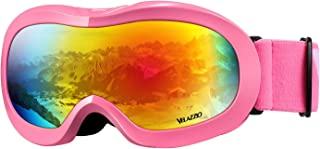 VELAZZIO Kids Ski Goggles, Snowboard Goggles OTG Snow Goggles Anti-Fog Double-Layer Lenses, 100% UV Protection