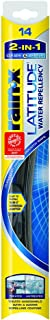 Rain-X 5079272-2 Latitude 2-in-1 Water Repellency Wiper Blade - 14-inches