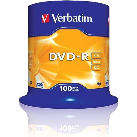 Verbatim 43549 - Pack de DVD-R vírgenes (100 Unidades, 4.7 GB, 16 x)