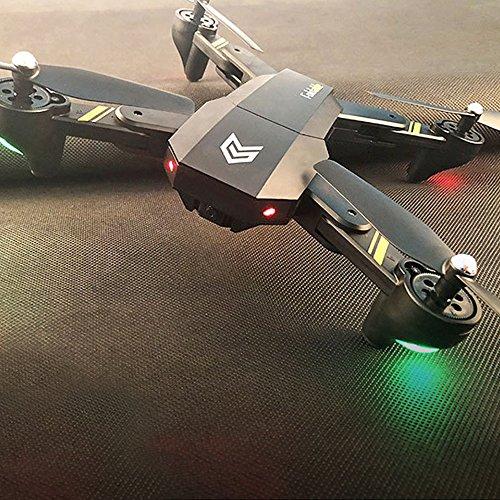Cewaal Hanbaili S25 Mini abejón Plegable con cámara,App Operación de Voz 360 Grados Flips One-Touch Ajuste de Velocidad hacia atrás Parada de Emergencia Drone para Principiantes