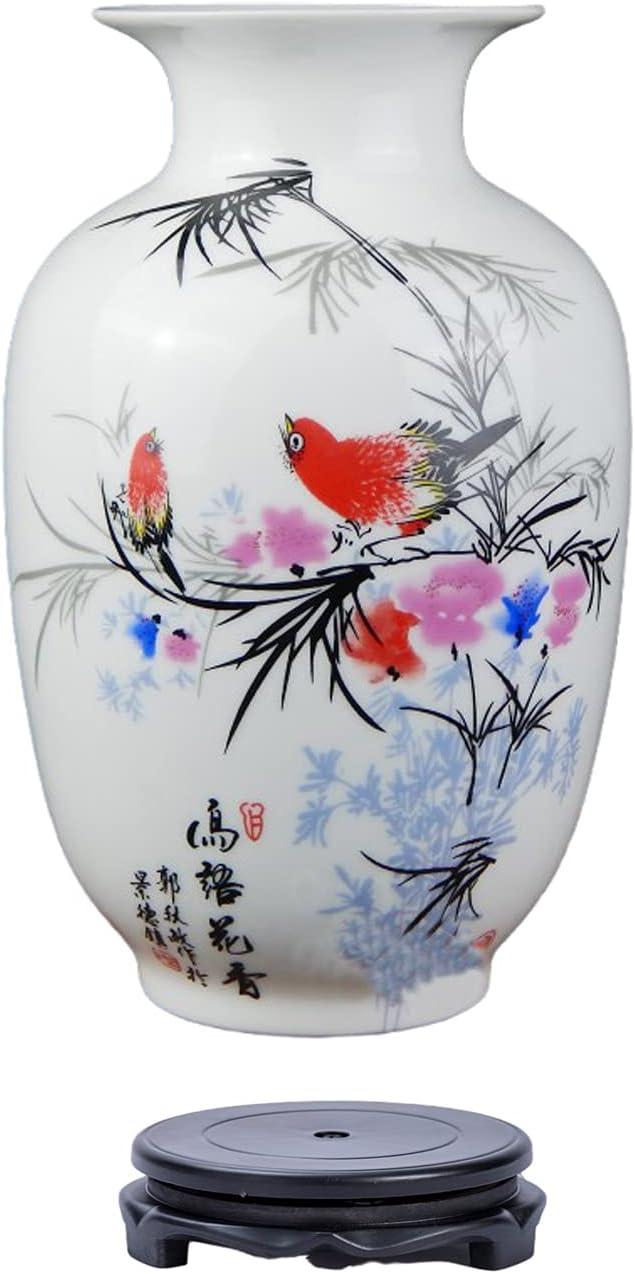 Chinese Retro White Porcelain Ceramic Flower with Vase Bi Stand SALENEW very popular! Gorgeous
