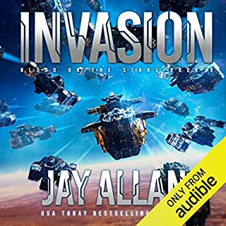 Invasion     Blood on the Stars, Book 9              Auteur(s):                                                                                                                                 Jay Allan                               Narrateur(s):                                                                                                                                 Jeffrey Kafer                      Durée: 14 h et 53 min     3 évaluations     Au global 4,7